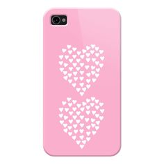 iPhone 7 Plus/7/6 Plus/6/5/5s/5c Case - Hearts Heart x2 Pink ($30) ❤ liked on Polyvore featuring accessories, tech accessories, iphone case, apple iphone case, slim iphone case, iphone cases, pink iphone case and iphone cover case