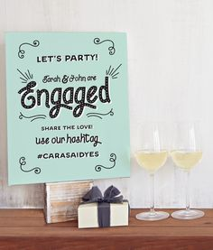 Our Engagement Party Welcome Sign is the perfect way to welcome guests to your engagement party.
