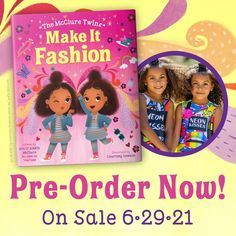 """Introducing your new favorite children's book stars: The McClure Twins! This adorable and fun story about embracing differences is perfect for fans of Juno Valentine and Fancy Nancy. Ava and Alexis are twins. So when they find out they were born a whole minute apart and that they don't agree on what to wear for their fashion show, the girls start to wonder… Can twins be """"mismatched""""?!"""