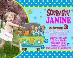 Scooby Doo Birthday Party Invitation - Printable File