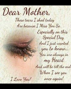 Happy Mothers day in Heaven Mom Images Quotes I Miss You Mom Poems Messages Cards Pics for Grandma Mom In Heaven Quotes, Mother's Day In Heaven, Mother In Heaven, Missing Mom In Heaven, Missing Mom Quotes, Rip Mom Quotes, Miss You Mom Quotes, Family Quotes, Heaven Poems