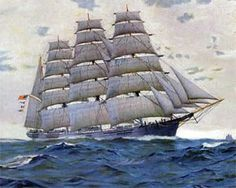 The Great Republic the largest sailing ship ever built.