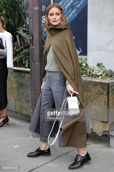 Olivia Palermo arrives at the Giambatista Valli show as part of the Paris Fashion Week Womenswear Spring/Summer 2018 on October 2 2017 in Paris France