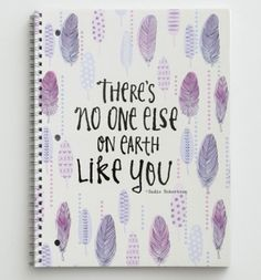 "Sadie Robertson Spiral Notebook - ""No One Like You"""