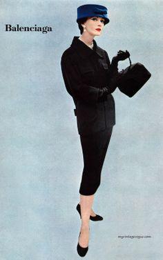 Ladies Home Journal 1956,  Dovima wearing Balenciaga - Photo by Richard Avedon