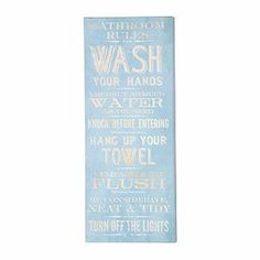 "Kohls Bathroom Sign kohl's - $15 - new view ""bathroom rules"" wall plaque 