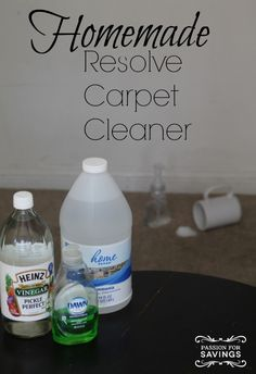 DIY Resolve Carpet Cleaner! Love this easy Household Homemade Recipe!