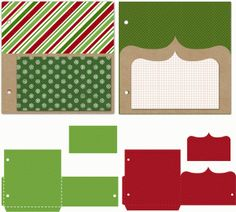 Silhouette Design Store - View Design #69292: 25 days of december 5 x 5 pocket pages