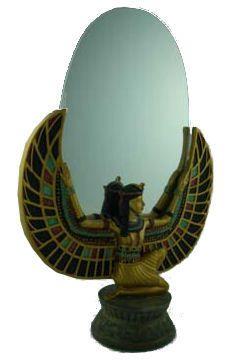 Spiegel Egyptische prinses Isis - 29 cm hoog