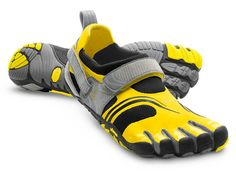 Vibram FiveFingers are the most common barefoot-running shoes, but other companies, such as Nike, sell minimalist models, too. Photograph courtesy of Vibram Posture Fix, Bad Posture, Barefoot Running Shoes, Vibram Fivefingers, Five Fingers, Minimalist Shoes, Komodo, Toe Shoes, Sports Shoes