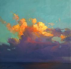oil on canvas clouds | Tumblr