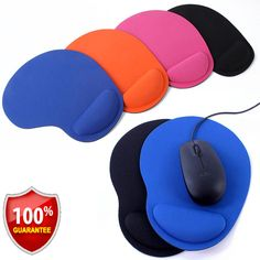 Ingenious Heart Silicone Mouse Pad Wristband Pad Cool Hand Rest Support For Desktop Computer & Office Mouse Pads