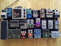 My actual pedalboard in its latest iteration.