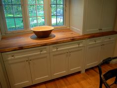 Love wood counters!    Counter Tops - Wood Kitchen Countertops - Recycled Countertops: Elmwood Reclaimed Timber