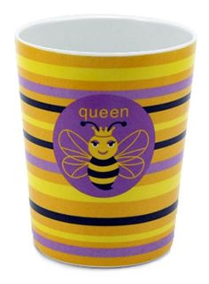 Jane Jenni 10-Ounce Melamine Cup, Queen Bee