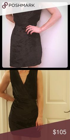 Myne Ashley Anne black velvet cocktail dress Black velvet deep v neck with ruched waistline. Super hot Myne cocktail/evening dress! Worn once! myne Dresses Mini