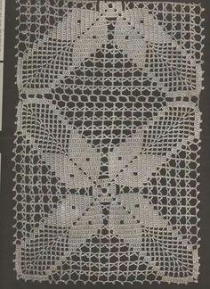 Crochet Tablecloth Pattern, Crochet Doily Diagram, Filet Crochet Charts, Granny Square Crochet Pattern, Crochet Squares, Crochet Granny, Crochet Motif, Crochet Shawl, Crochet Designs