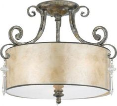 Vanessa Semi-Flush Mount - Ceiling Fixtures - Ceiling Mount Lighting - Lighting | HomeDecorators.com