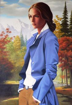 Canadian artist - GINETTE BEAULIEU   intersting style  fab shade of blue :)