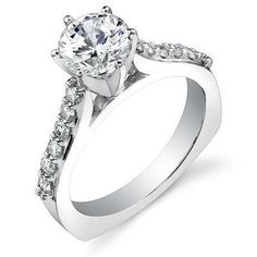 Engagement Rings Round Flat 7