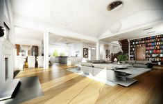 Projekt domu Rezydencja Parkowa (TKS-275) - 258.96m² Dining Bench, House Plans, Villa, House Design, Kitchen, Projects, Furniture, Home Decor, Bungalows