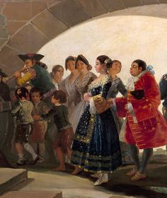 Francisco de Goya ~ La boda (detail) ~ Museo Nacional del Prado, Madrid, Spain Francisco Goya, Spanish Painters, Spanish Artists, Portrait Art, Portraits, Goya Paintings, List Of Artists, Land Art, Artist Art