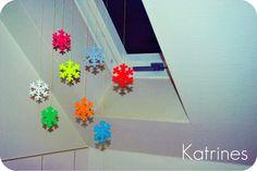 Perler bead snowflakes. Katrines Blog