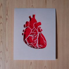 Anatomical paper cut heart from blueshipwreck on etsy.