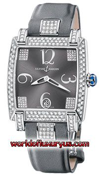 130-91AC-609 - This Ulysse Nardin Caprice Womens Watch, 130-91AC-609 features 34mm 18kt White Gold case, Grey dial, Sapphire crystal, Fixed bezel, and a Satin Grey Strap. - See more at: http://www.worldofluxuryus.com/watches/Ulysse-Nardin/Caprice/130-91AC-609/3_21_8812.php#sthash.9Ev0DeOV.dpuf