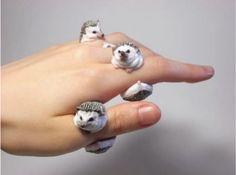Кольца-зверушки из полимерной глины SKRMASTER.RU — Handmade ярмарка России