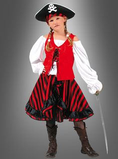 Piratin Jacky Kinderkostüm bei Kostuempalast.de