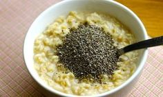 Oatmeal With Chia For Healthy Weight Loss Veggie Recipes, Diet Recipes, Healthy Recipes, Healthy Life, Healthy Snacks, Healthy Eating, Healthy Weight, Breakfast For Dinner, Breakfast Recipes