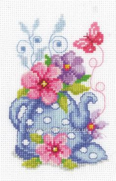Shop online for Teapot with Flowers Cross Stitch Kit at sewandso.co.uk. Browse our great range of cross stitch and needlecraft products, in stock, with great prices and fast delivery.