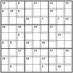 Number Logic Puzzles: 20716 - Killer size 9