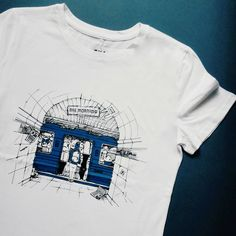 White Cotton Metro Shirt / Rush Hour Traffic / Reincarnation / maginative Artworks / Original Artwork / Artist Designed