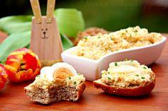 CIZRNOVO-VAJÍČKOVÁ POMAZÁNKA Krispie Treats, Rice Krispies, Salmon Burgers, Kids Meals, Baked Potato, Mashed Potatoes, Baking, Ethnic Recipes, Desserts