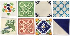 Using tiles as coasters | Apartment Apothecary - love these mexican tiles. Link to shop in post.