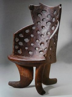 High-backed stool Jimma or Gurage, Ethiopia, wood 99 × 58.4 × 68.5 cm Private Collection