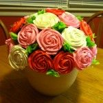 I recently made a cupcake bouquet with my extra cupcakes for a dessert auction. I had been wanting to try it for quite a while but had no reason to. What I found was that it was easier than I had thought. This makes a great centerpiece for any occasion …