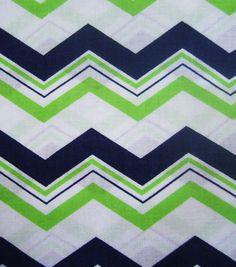 Quilter's Showcase Fabric- Navy Green Chevron & keepsake calico fabric at Joann.com