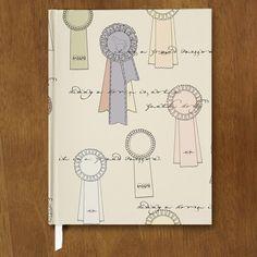 Horse Show Ribbons Designer Hardbound Journal - The Painting Pony