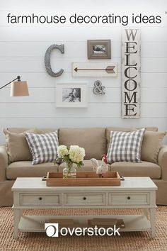 Farmhouse Decorating Ideas - Farmhouse decor embodies the simple comforts of a country home. Even if early morning chores and long days in the field are not your cup of tea, you can still capture the lived-in charm of farmhouse style with a few decorating