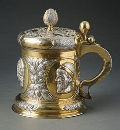 A Baltic 17th century tankard – parcel-gilt – 1680 - Daniel Otto, Reval (1659-1689) Kunstauktionshaus Schlosser - www.kunstauktionshaus-schlosser.de Reval – present day Tallinn – member of Hanseatic league from #13thC to early #20thC – city walls and defence towers – major trade route between Europe North, South and Russia www.bamberger-antiquitaeten.de