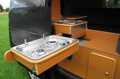 A great page (all in Dutch) showing a camper conversion from Ford Transit Connect.