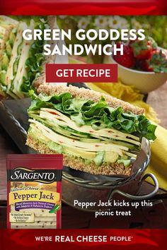 Soup And Sandwich, Sandwich Recipes, Vegetable Recipes, Vegetarian Recipes, Cooking Recipes, Healthy Recipes, Green Goddess, Fresh Green, Sandwiches