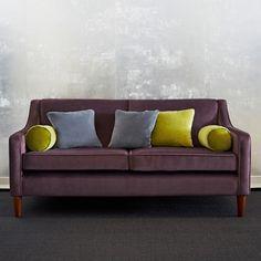 Balfour sofa, grape velvet