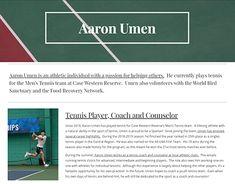 Aaron Umen on Behance World Birds, Play Tennis, Tennis Players, Recovery, Food, Essen, Meals, Survival Tips, Healing
