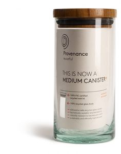 sustainable packaging design - even though it's NOT square i love the cannister idea/design - i like reusable packaging Glass Packaging, Cool Packaging, Cosmetic Packaging, Brand Packaging, Packaging Ideas, Design Packaging, Organic Packaging, Honey Packaging, Juice Packaging