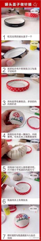 Very sweet DIY pincushion