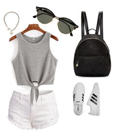 """""""Senza titolo #1"""" by giuly-999 ❤ liked on Polyvore featuring STELLA McCARTNEY, adidas, Ray-Ban and Tiffany & Co."""